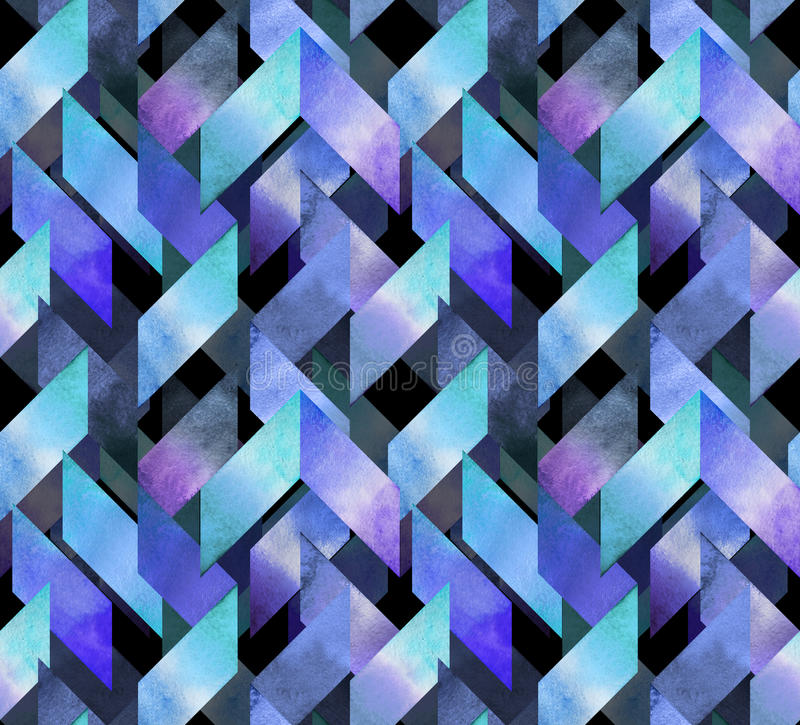 Abstract watercolor seamless pattern stock illustration