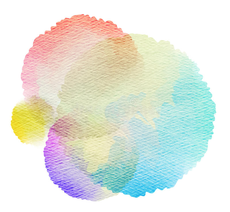 Abstract watercolor splash. royalty free illustration