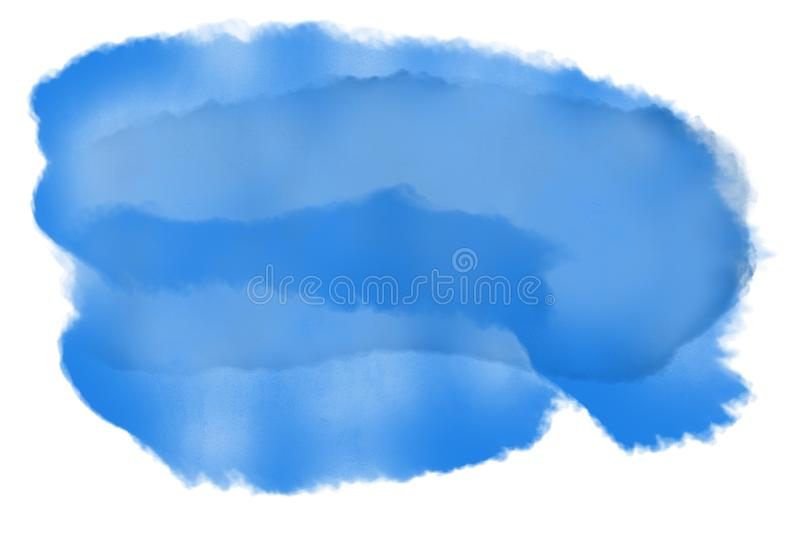 Abstract watercolor splash in shades of blue on white background. Illustration vector illustration
