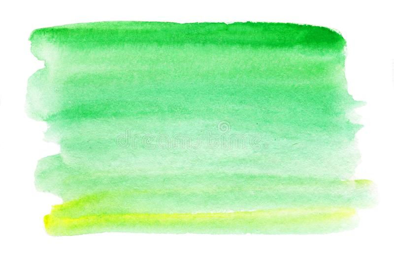 Abstract watercolor splash. Wet Watercolour - blue and green d vector illustration