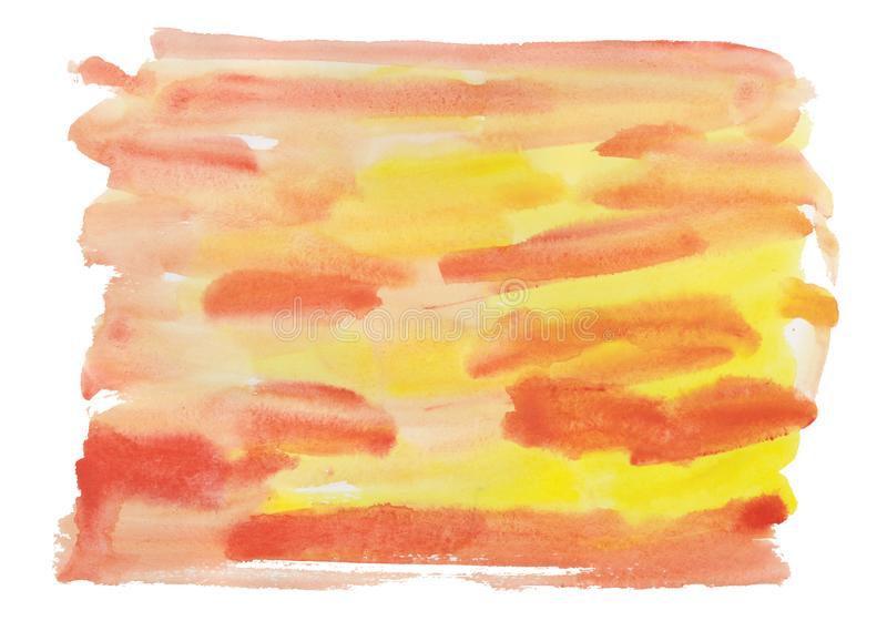 Abstract watercolor spot background red and yellow texture for cards. Wedding invitation, posters, social network template royalty free illustration