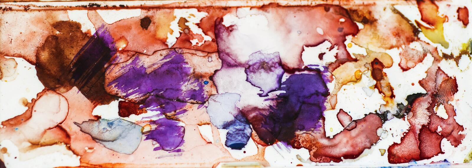 Abstract watercolor stain smudge. royalty free stock photos