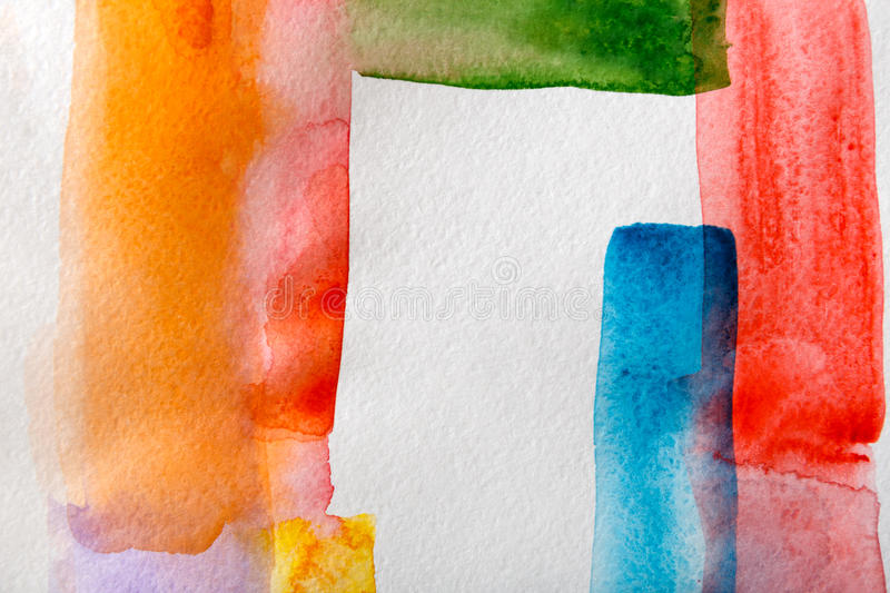 Abstract watercolor strokes painted texture background royalty free stock photo