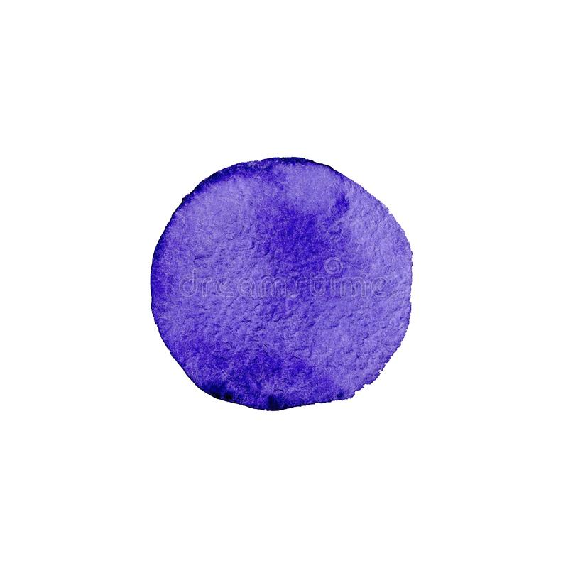 Abstract Watercolor violet hand painted circle. Beautiful element for design. Color background. Abstract Watercolor violet hand painted circle. Beautiful element stock illustration
