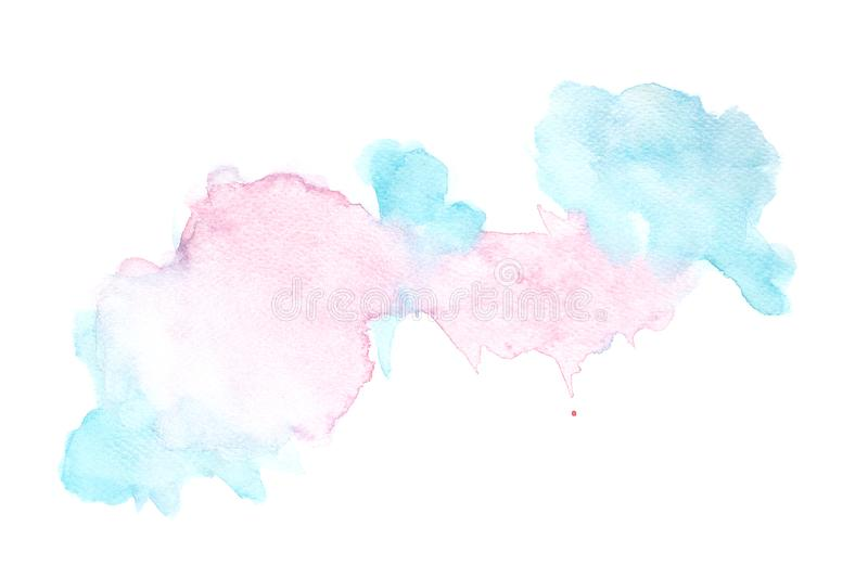 Abstract watercolor on white background, Watercolor splashing on the paper, Abstract painted illustration design decoration royalty free stock photo