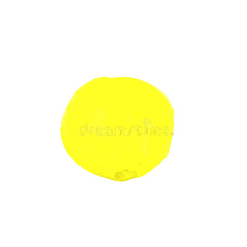 Abstract Watercolor yellow hand painted circle. Beautiful element for design. Color background. Abstract Watercolor yellow hand painted circle. Beautiful element stock illustration
