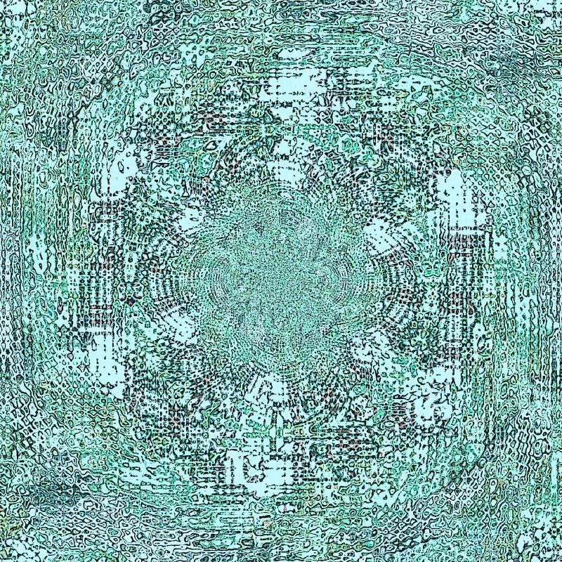 Abstract watercolourpatroon in wintertaling en turkoois Kleurrijk bokehlicht Aquarelle textuur royalty-vrije illustratie