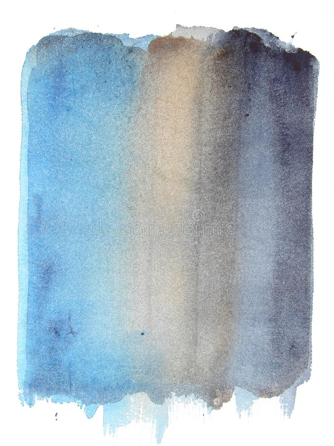 Abstract waterverf grunge blauw als achtergrond vector illustratie