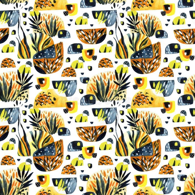 Abstract waterverf minimaal naadloos patroon stock illustratie