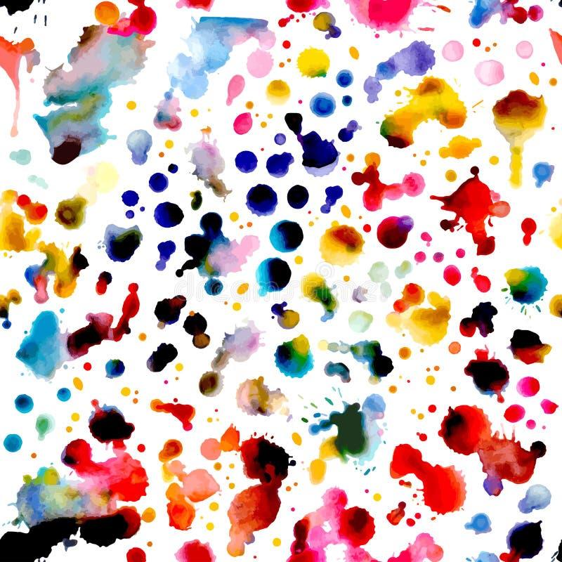 Abstract waterverf vector naadloos patroon royalty-vrije illustratie
