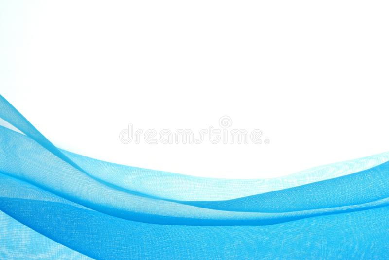 Abstract wave. Abstract soft blue chiffon with curve and wave pattern stock photos