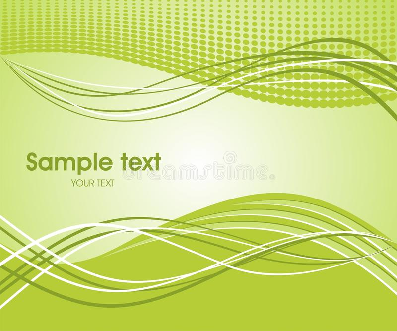Abstract wave background. Dynamic wave background in green. Vector illustration vector illustration
