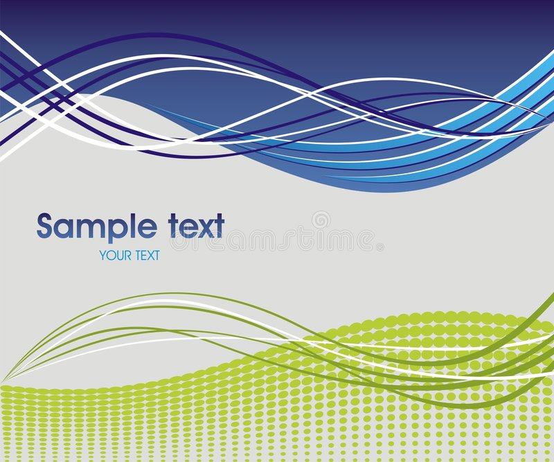 Abstract wave background. Dynamic wave background in blue and green vector illustration