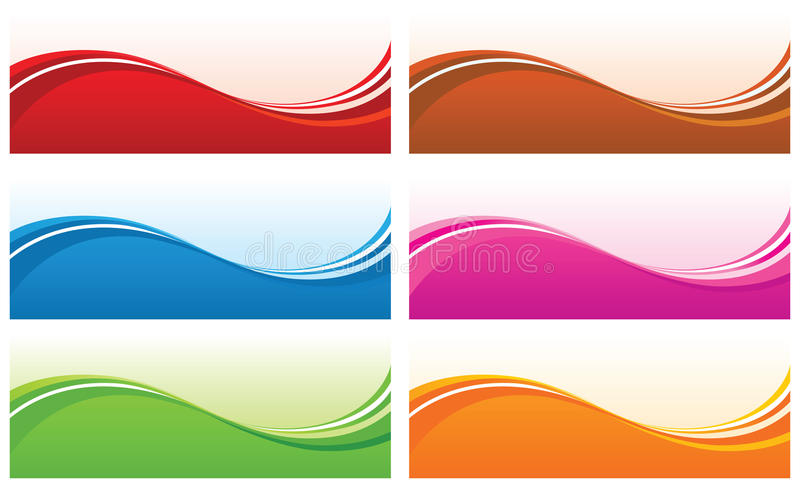 Abstract wave backgrounds. vector illustration