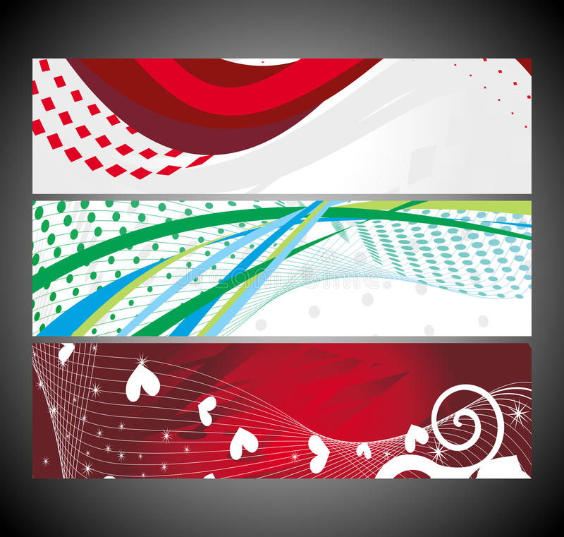 Download Abstract Wave Banners Multi-colored Stock Vector - Illustration: 22044791