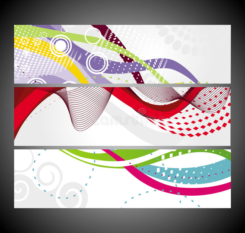 Download Abstract Wave Banners Multi-colored Stock Vector - Illustration of decorative, emblem: 22044824
