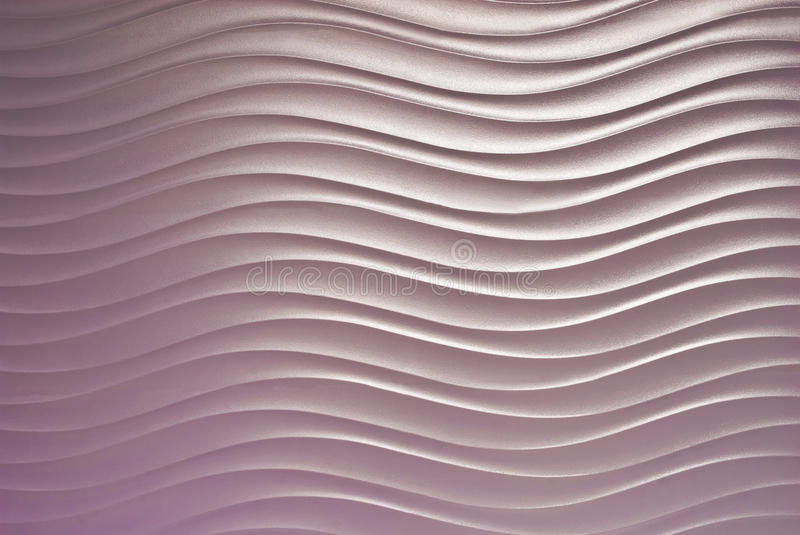 Abstract wave curve pattern on wall background stock photography