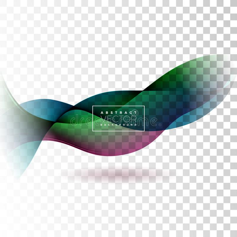 Abstract Wave Design on Transparent Background. Vector Illustration. vector illustration