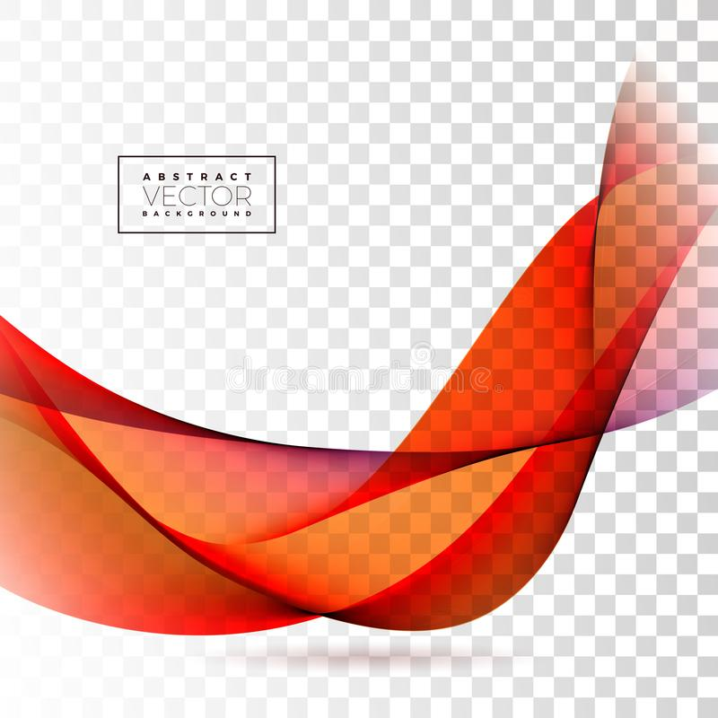Abstract Wave Design on Transparent Background. Vector Illustration. stock illustration