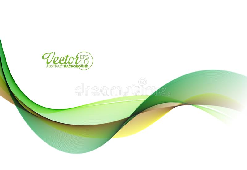 Abstract Wave Design on White Background. Vector Illustration. royalty free illustration