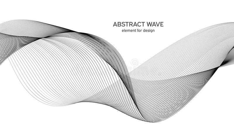 Line The Art Element : Abstract wave element for design dots digital frequency track