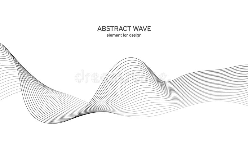 Abstract wave element for design. Digital frequency track equalizer. Stylized line art background. Vector illustration. Wave with. Lines created using blend vector illustration