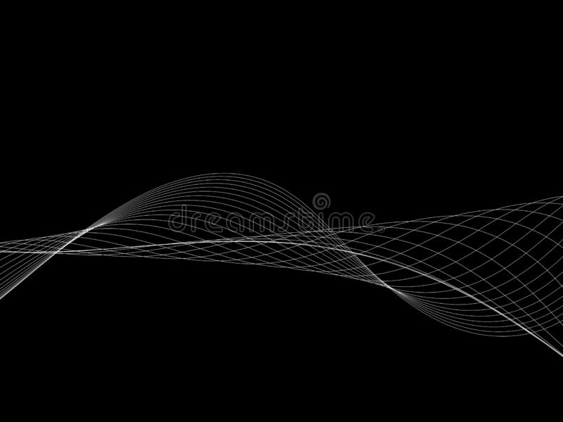 Abstract wave element for design. Stylized line art background. Curved wavy line, smooth stripes. Beautiful   Abstract wave element for design. Stylized line art royalty free illustration