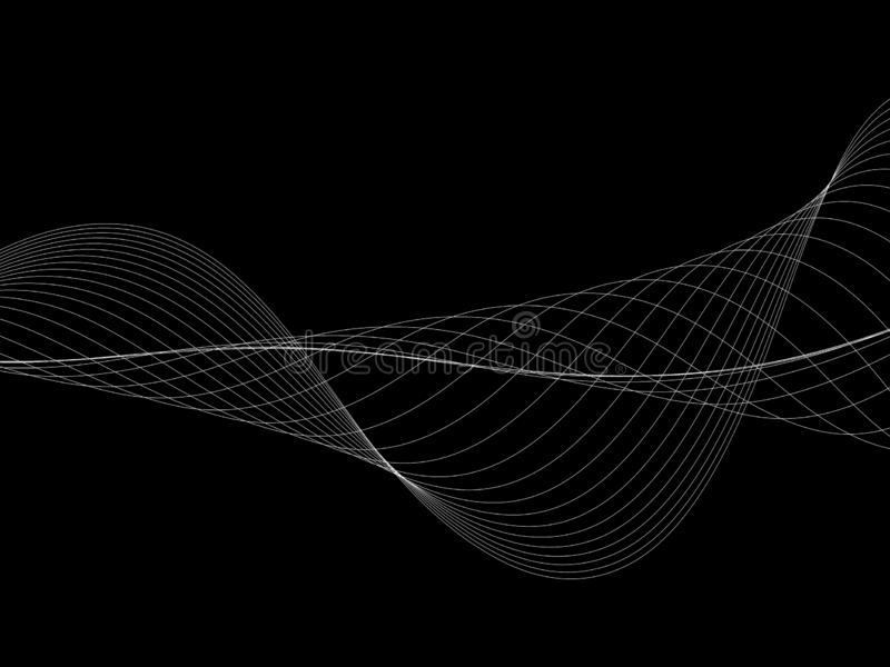 Abstract wave element for design. Stylized line art background. Curved wavy line, smooth stripes. Beautiful   Abstract wave element for design. Stylized line art stock illustration