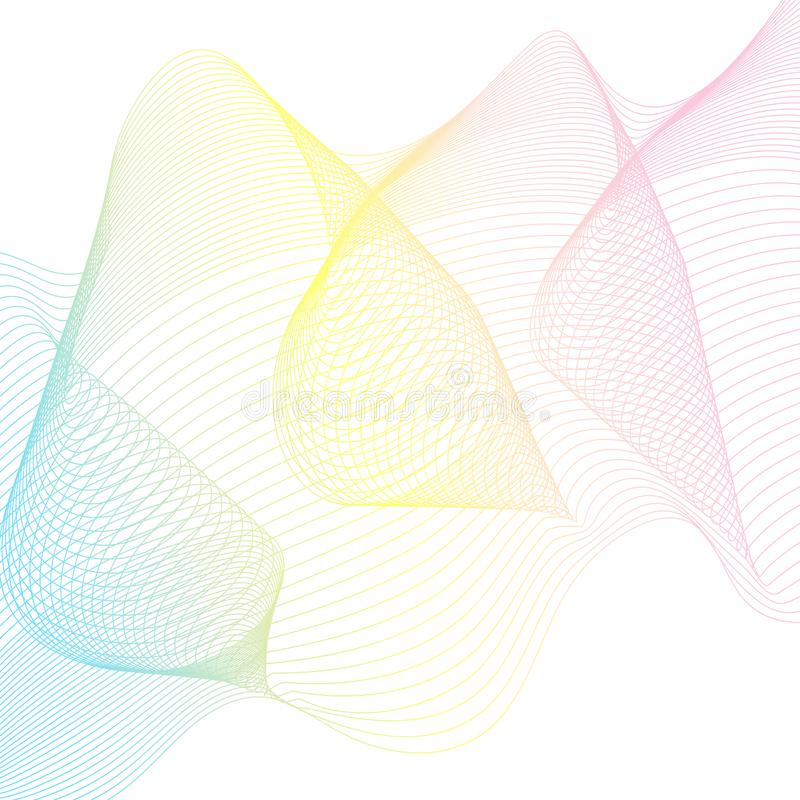 Abstract Wave lines background. Abstract Wave lines vector background vector illustration