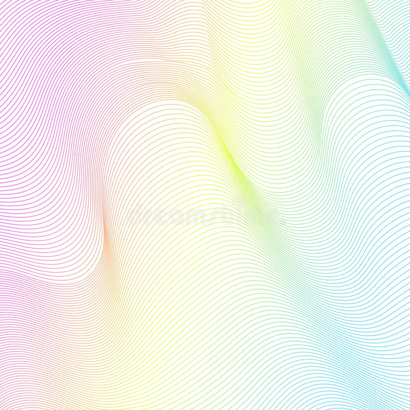 Abstract Wave lines background. Abstract Wave lines texture background royalty free illustration