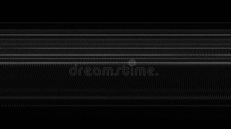 Abstract wave of many points. Futuristic background. Vector illustration vector illustration