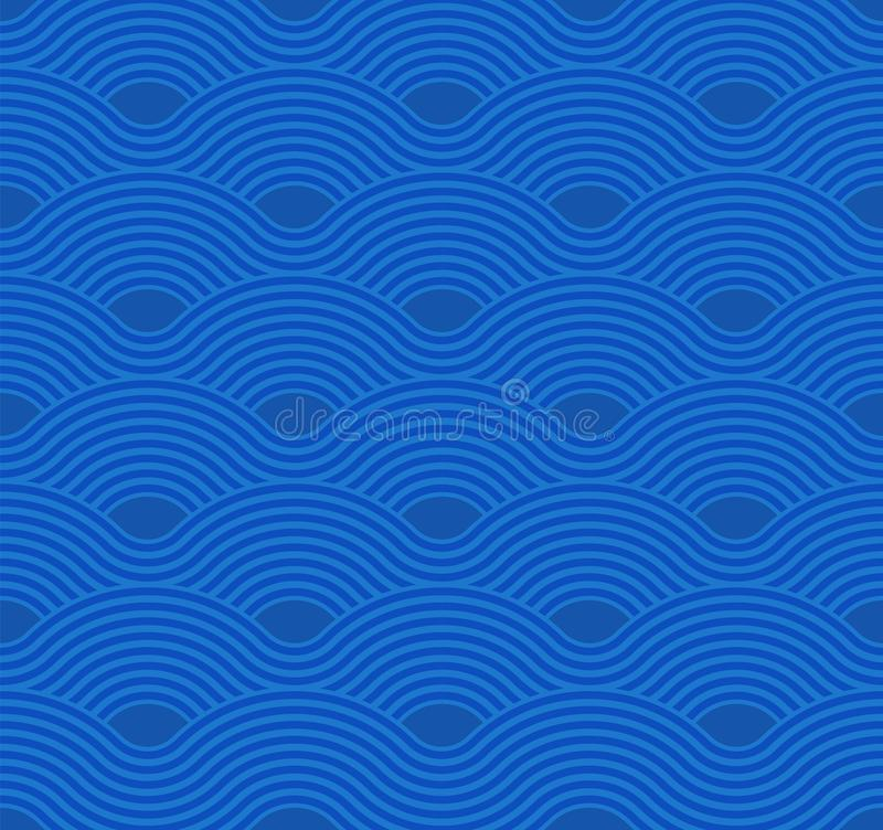 Abstract wave pattern. Blue ripple background. Flat geometric design. Abstract wave pattern. Blue ripple background. Flat geometric design vector illustration