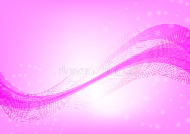 Abstract wave pink color background with copy space Vector illustration royalty free illustration