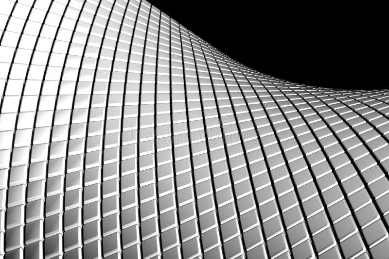 Abstract wave shape aluminum background royalty free stock photo