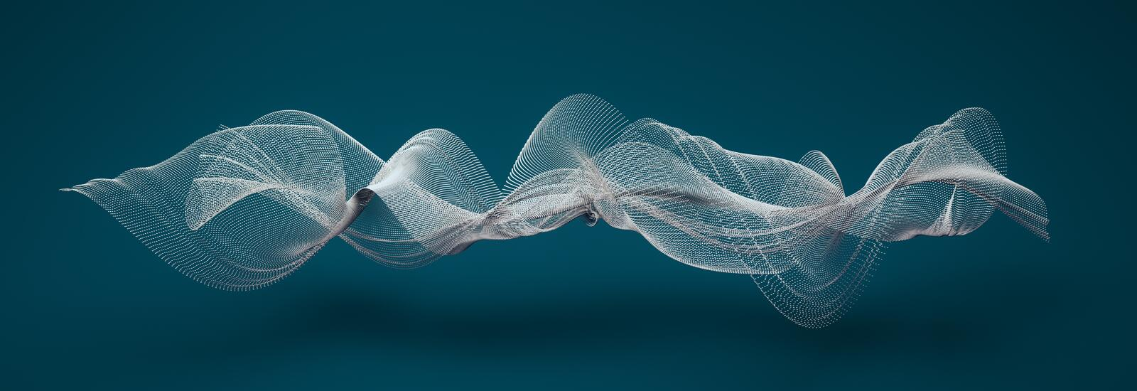 Abstract wave shapes. 3d illustration stock illustration