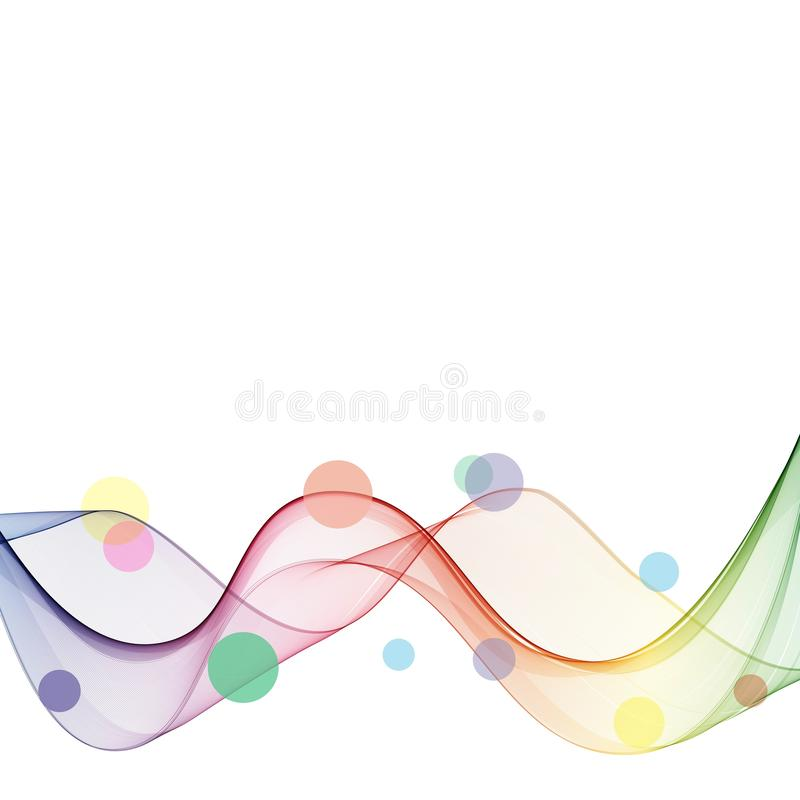 Abstract wave vector background, rainbow waved lines for brochure, website, flyer design. Spectrum wave. Rainbow color vector illustration