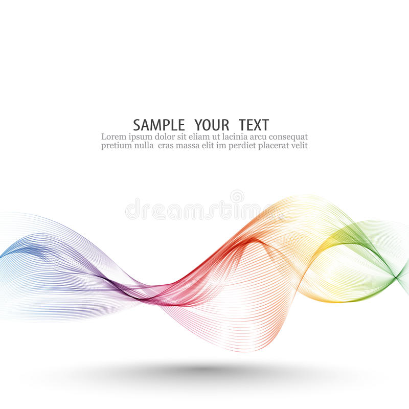 Abstract wave vector background, rainbow waved lines for brochure, website, flyer design. Spectrum wave color. Smoky royalty free illustration