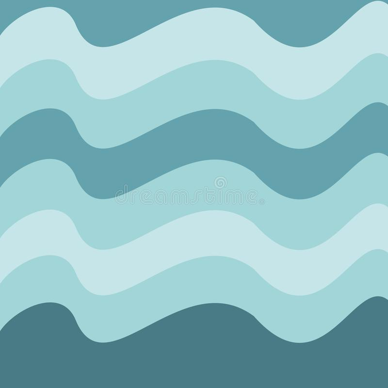 Abstract wave vector background or wallpaper. Gradient blue colors, curly lines, vector can be used as background of greeting card. Ad, banner, invitation royalty free illustration