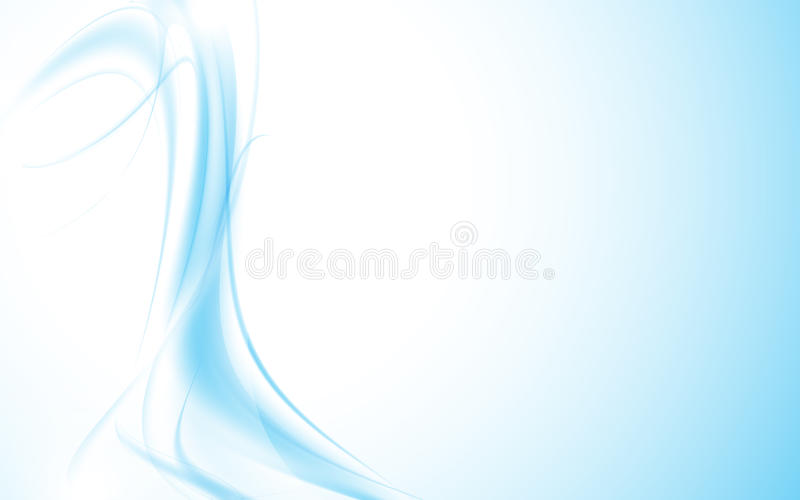 Abstract wave wavy pattern smooth blue fluid design clean background. Eps 10 vector stock illustration