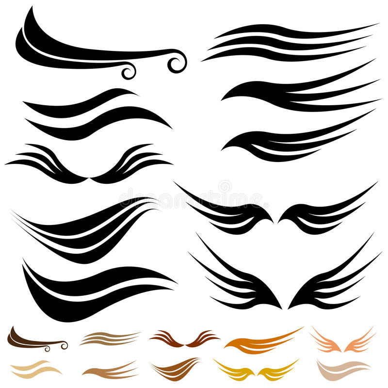 Download Abstract Wave Wing Set stock vector. Image of swirl, wings - 13236492