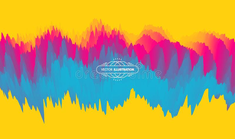 Abstract waveform background. 3d technology style. Vector illustration with sound waves.  vector illustration