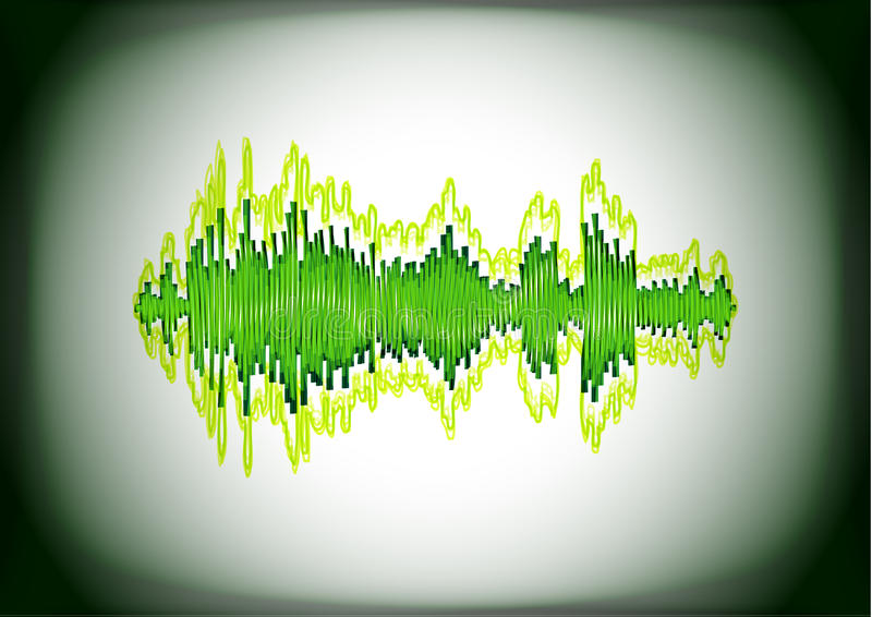 Download Abstract waveform card stock vector. Image of level, line - 23002899