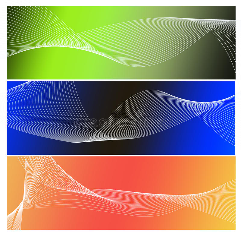 Abstract waves stock photography