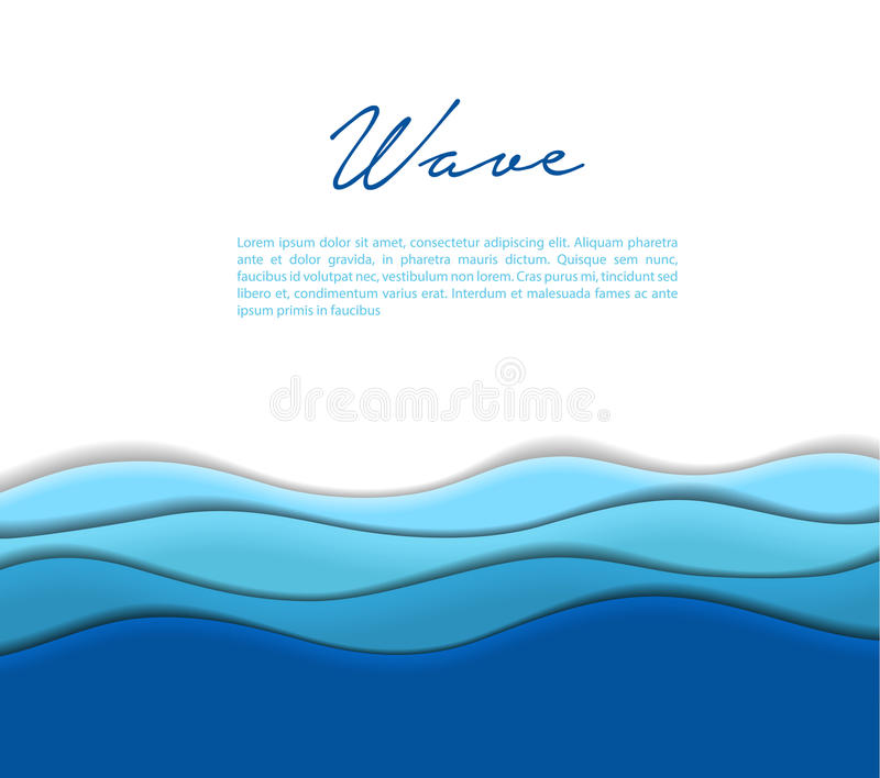 Abstract waves background stock illustration