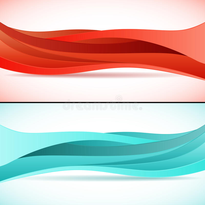 Abstract waves backgrounds set royalty free illustration