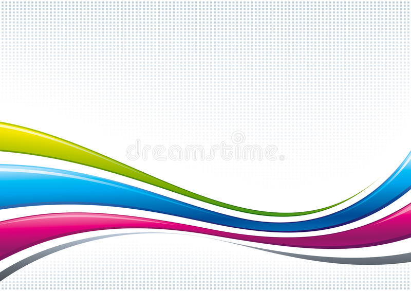 Abstract Waves Digital Background Royalty Free Stock Image