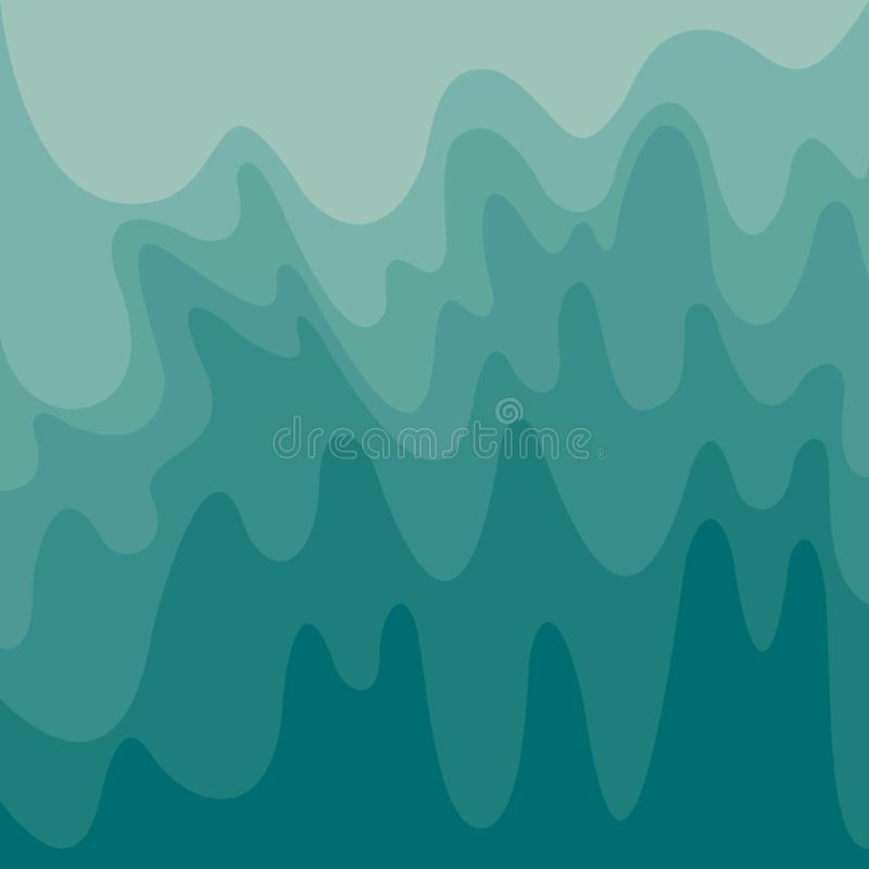 Abstract waves texture, shades gradient aquamarine colors background. Vector wavy illustration. geometric fluid  wavy shape vector illustration