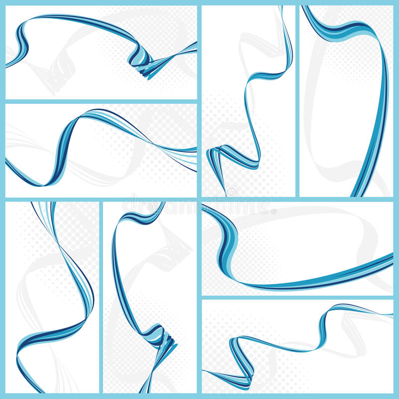 Abstract wavy backgrounds