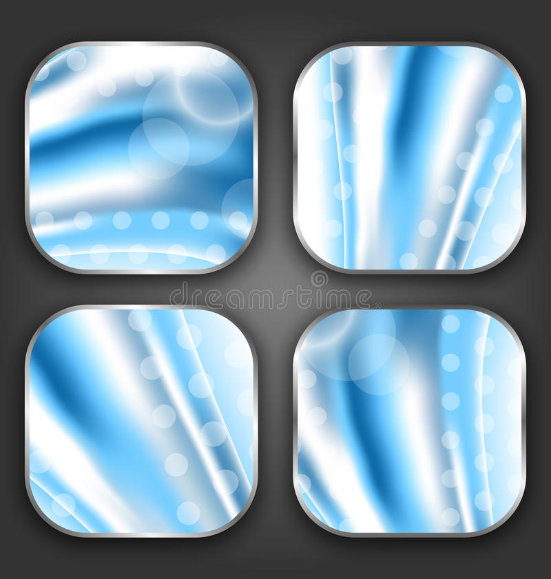 Abstract wavy backgrounds with for the app icons stock illustration