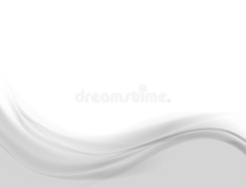 Abstract wavy gray background stock illustration